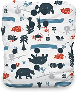 Thirsties One Size All in One Cloth Diaper, Snap Closure, Adventure Trail