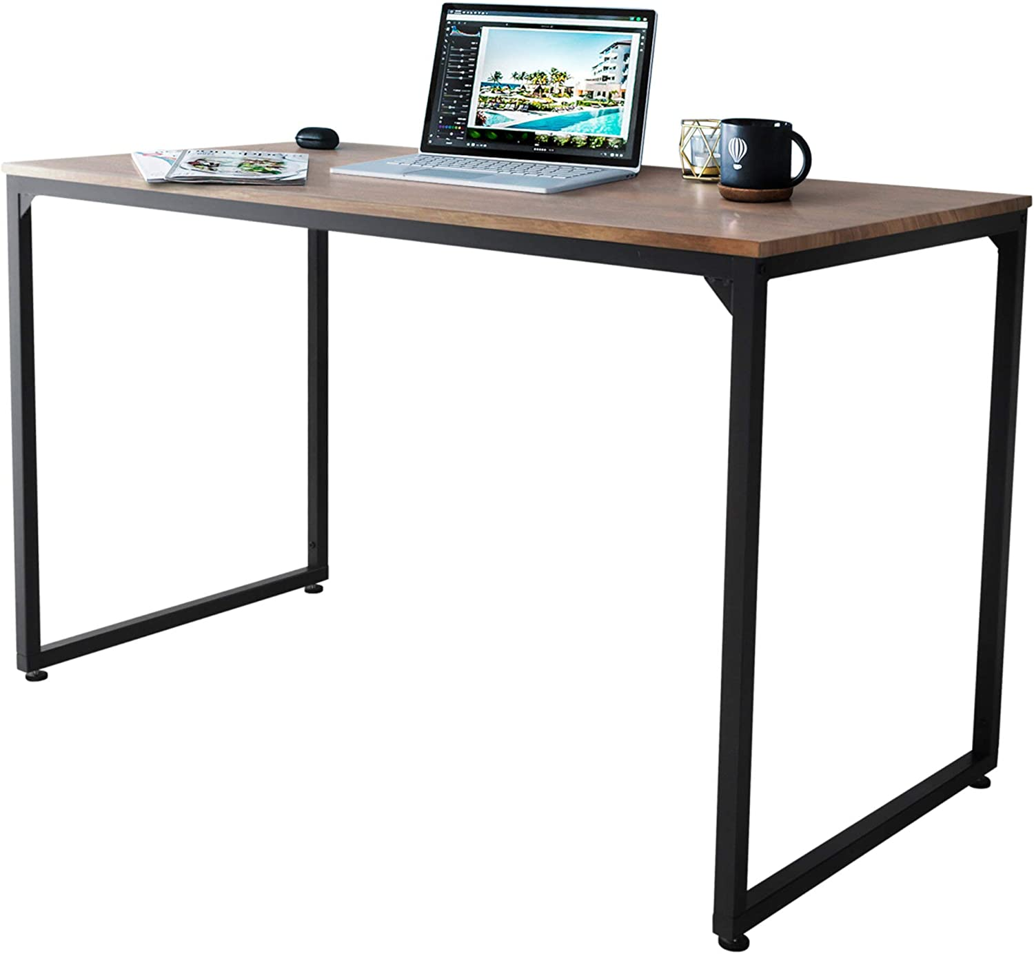 Zenvida Don't miss It is very popular the campaign Home Office Desk Modern Computer Workstation Stud Simple