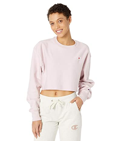 Champion LIFE Reverse Weave(r) Cropped Cut Off Crew (Hush Pink) Women