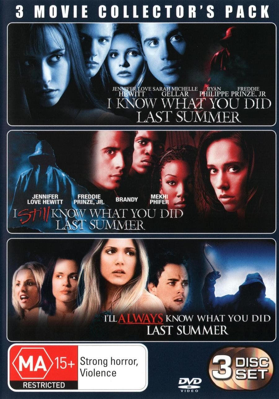 I Know What You Did Last 1-3 Summer Discs Award Free Shipping Cheap Bargain Gift Format 3 NON-USA