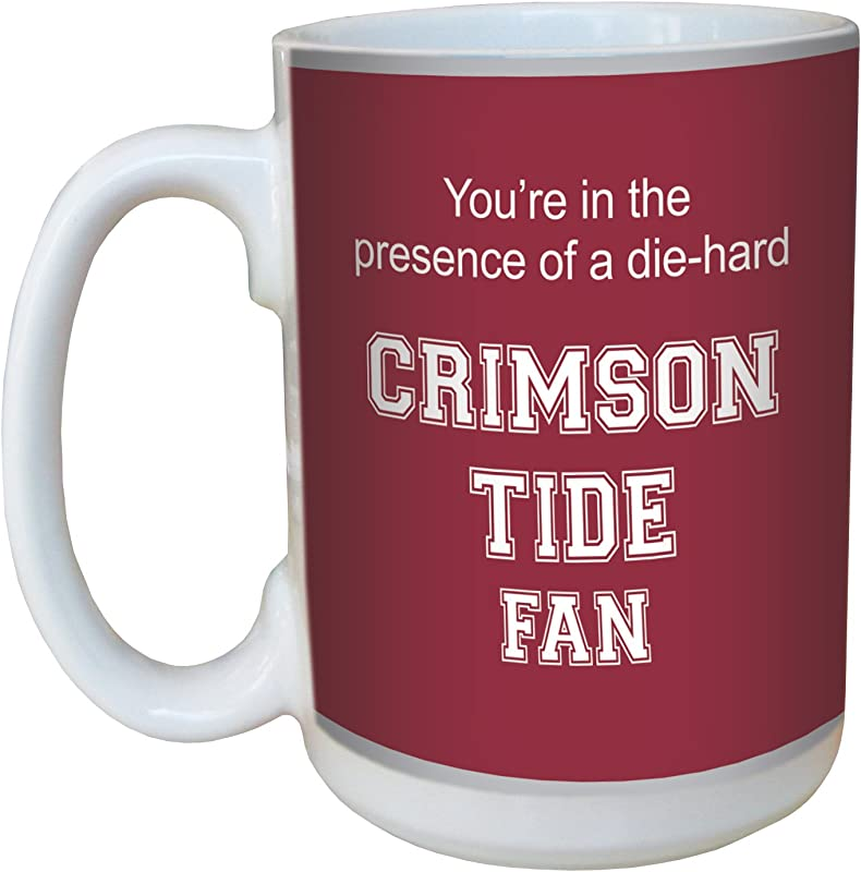 Tree Free Greetings Lm44376 Crimson Tide College Football Fan Ceramic Mug With Full Sized Handle 15 Ounce