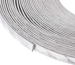 Kissitty 32.8 Feet/Roll 5mm Wide Decorative Silver Flat Jewelry Artistic Aluminum Wire 18 Gauge