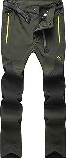 BenBoy waterdichte softshellbroek voor heren, winddicht, warm gevoerd, skibroek, snowbroek, winter, trekkingbroek