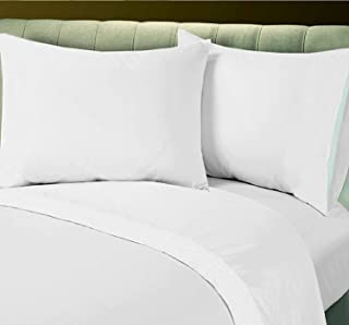Union Hospitality Linen Bed Sheet Sale on 1 New Fitted King Bed White Sheet T-250 Percale Hotel Linen