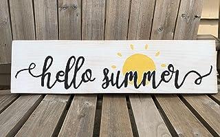 "Rustic Summer Sign/Sun Wall Sign - 5.5"" x 22"" / Summertime Home Decor"