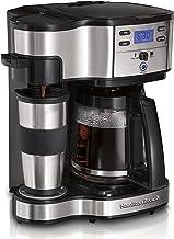 Hamilton Beach 2-Way Brewer Koffiezetapparaat, Eenkops en Kan voor 12 Kopjes, Roestvrij Staal (49980A-CE)