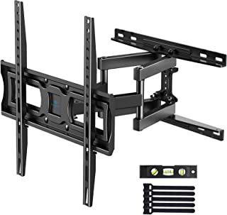 PERLESMITH TV Wall Mount Full Motion for Most 32-55 Inch Flat/Curved TVs with Swivels, Tilts & Extends, Dual Articulating ...