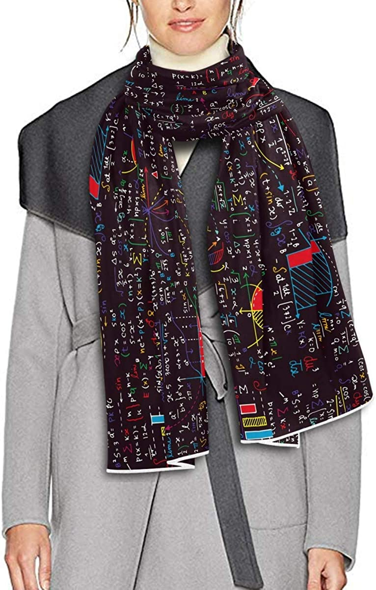 Scarf for Women and Men Chalkboard Math School Shawls Blanket Scarf wraps Soft thick Winter Oversized Scarves Lightweight