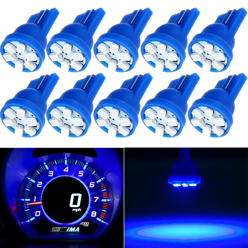 License Plate Lights,cciyu Blue T10 LED Bulb,168 194 Light Bulb,10Pack
