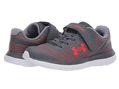 Under Armour Kids Impulse (Little Kid) (Pitch Gray/White/Versa Red) Boys Shoes