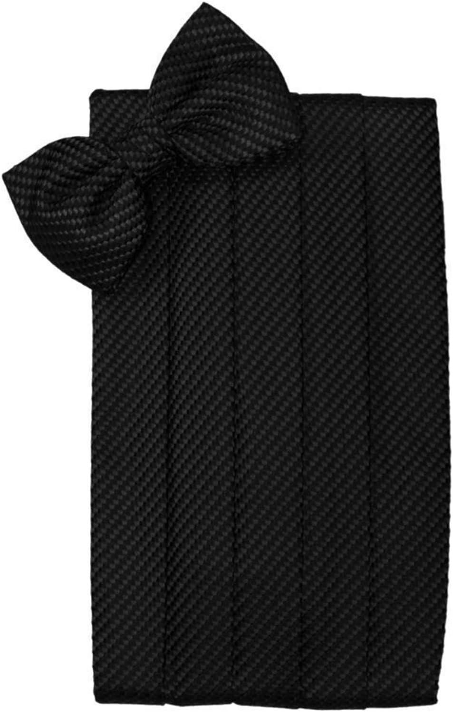 Black Geometric Tuxedo Cummerbund and Bow Tie
