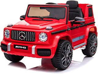 Dorsa Licensed Mercedes Benz AMG G63 12V Ride On Car with Remote Control for Kids, Red