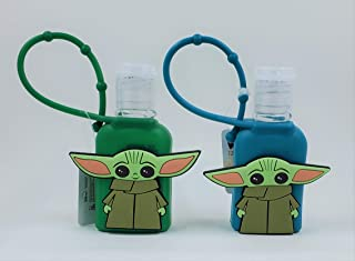 Set of 2 Star Wars Mandalorian - The Child (Baby Yoda) - 1 ounce Hand Sanitizers with Cases