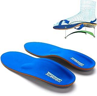 iFitna趾骨アーチサポート矯正スポーツ用インソール 偏平足、かかとの痛み、足の疲労、足底筋膜炎用 男性用女性用