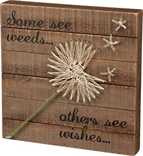 Primitives by Kathy String Art Box Sign, Dandelion Wishes