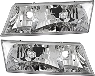 Headlights Headlamps Driver and Passenger Replacements for 98-02 Mercury Grand Marquis YW3Z 13008 CB YW3Z 13008 BB