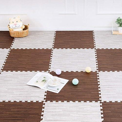LUYIASI- Tapis de jeu pour bébé, tapis pour enfants en mousse EVA, tuiles de juxtaposition pour exercices, tapis de puzzle au sol pour enfants blanket (Couleur   B, Taille   60x60x1.9cm [6 pieces])