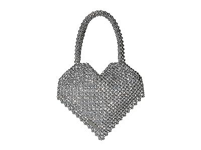 Loeffler Randall Maria Beaded Heart Tote (Silver) Tote Handbags