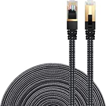 Cat 7 Ethernet Cable, DanYee Nylon Braided 10ft CAT7 High Speed Professional Gold Plated..