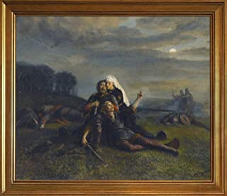 Berkin Arts Classic Framed Peter Nicolai ARBO Giclee Canvas Print Paintings Poster Home Decor Reproduction(After The Battle) #JK