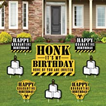 product image for Big Dot of Happiness Happy Quarantine Birthday - Honk, It's My Birthday Yard Sign and Outdoor Lawn Decorations - Social Distancing Party Yard Signs - Set of 8