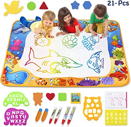 Children Doodle Drawing Toys 1 Painting Mat 2 Water Drawing Pen OneHomeStore