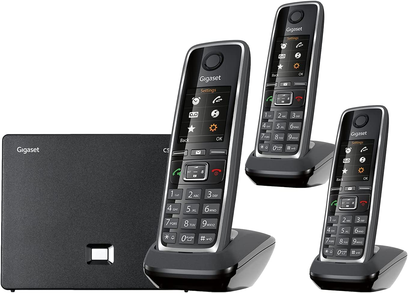 Gigaset C530IP Trio – Popular popular Portable with Houston Mall 2 Additional VoIP Phone