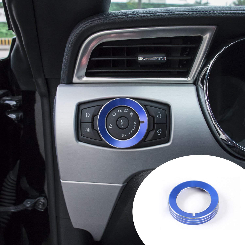 Bonbo Sale Aluminum Alloy Interior Headlight Trim Knob Ultra-Cheap Deals Cover f Switch