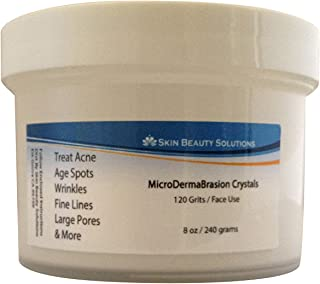 100% MicroDermaBrasion Aluminum Oxide Crystals- 4 oz / 120 grams for Face -120 grits, Pure White Micro Derma Brasion Crystals