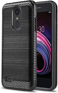 Phone Case for [LG Rebel 4 LTE (L212VL, L211BL)], [Modern Series][Black] Shockproof Cover [Impact Resistant][Defender] for Rebel 4 LTE (Tracfone, Simple Mobile, Straight Talk, Total Wireless)