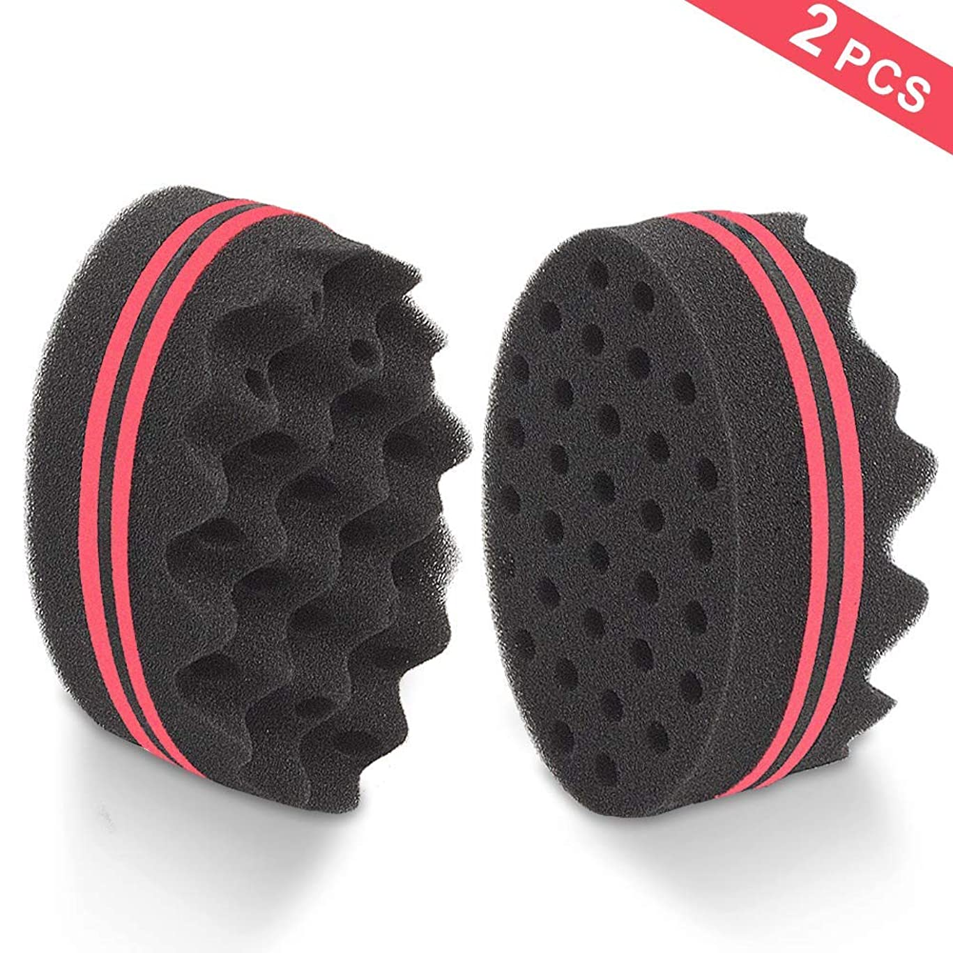 HALLO Black Magic Dual-use Hair Twists Sponge Brush for Coils/Dreads(2 PACK)