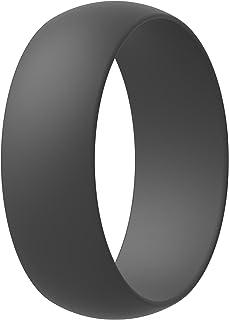 خاتم زفاف من السيليكون من ثاندرفيت للرجال والنساء - شريط مطاطي للخطوبة | عرض الرجال 8.0 مم - للنساء 5.5 مم | سمك الرجال 2....