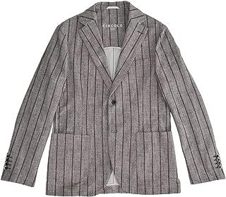 CIRCOLO 1901(チルコロ) メンズ シングルジャケット グレー&ブラウン 正規取扱店