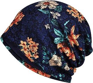 LOLONG 抗がん剤 医療用帽子 レディース 夏用 ニット帽 花柄