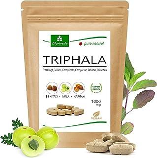 Tabletas de Triphala 1000mg (120 o 360 tabletas) hechos de la fruta del rey ayurveda Amla, Hiritaki y Bibhitaki: producto ...