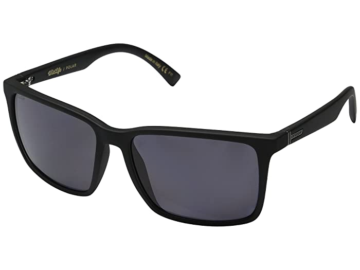 VonZipper Lesmore Polarized (Black Smoke Satin/Vintage Grey Wildlife) Sport Sunglasses