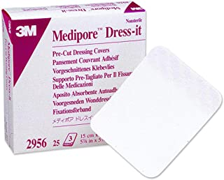3m Medipore Dress-It Pre-Cut Dressing Covers 3.875 in. x 4.625 in./Box of 25