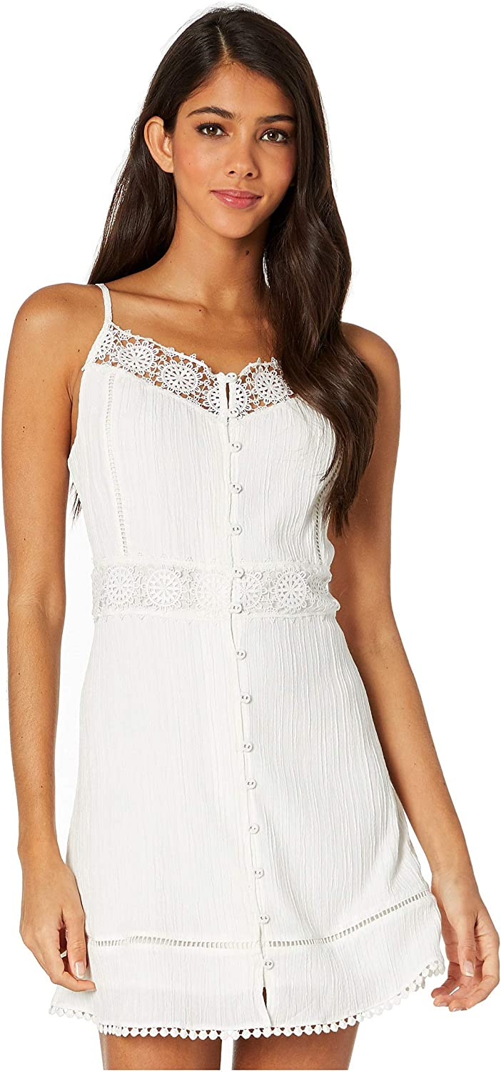 cupcakes and cashmere Women's Alliaura Textured Button Front Dress with Lace
