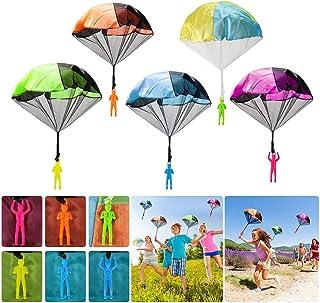 comprar comparacion Wokkol Paracaídas para Niños, 12 Piezas Mini Paracaídas con Soldados Set, Mano Que Lanza Paracaidista, Juegos de Vuelo al ...