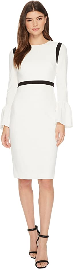 Calvin Klein - Bell Sleeve Sheath with Piping CD7C11EV