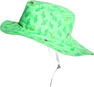 Ki ET LA - 婴儿幼童太阳帽 - UPF 50 + - 双面沙漠牛犬图案 - * 纯棉 绿色 2-4 years old