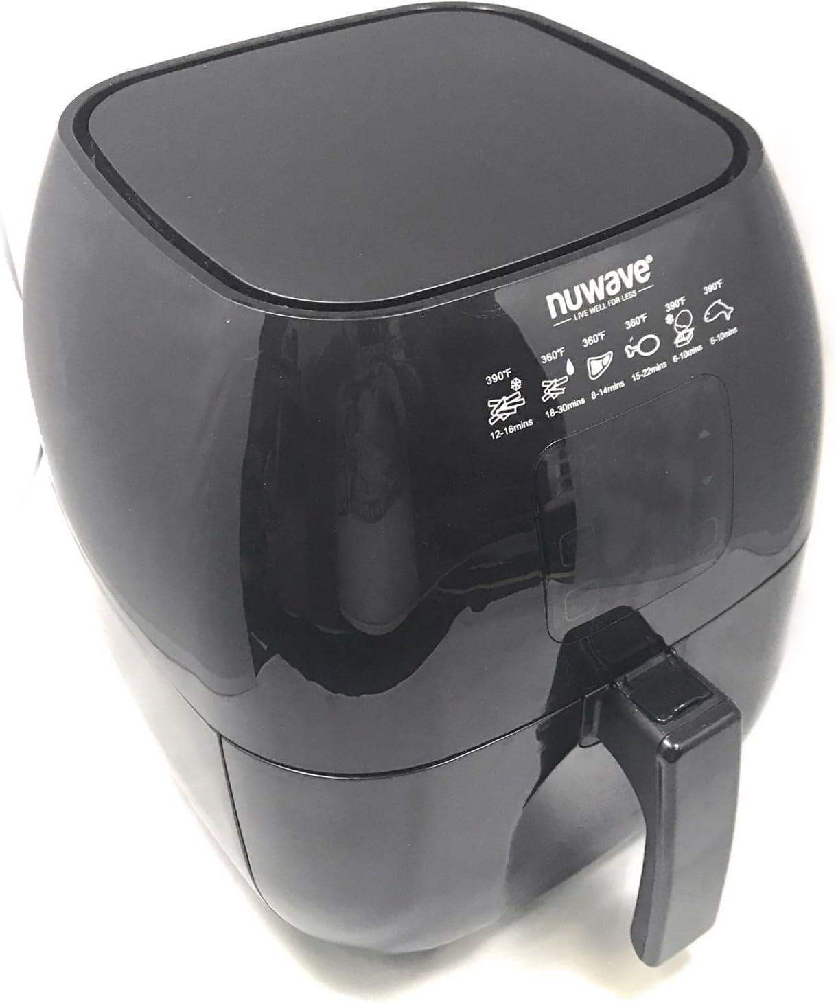 Nuwave - Brio Great interest Digital Air Reversible Fryer Capacity Super sale period limited 3 Quart