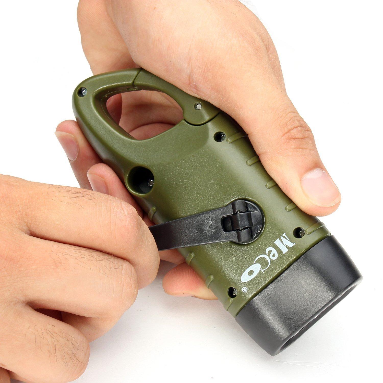 MECO Cranking Rechargeable Flashlight Emergency