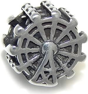 ICYROSE Stainless Steel Ferris Wheel Charm Bead 508 for European Snake Chain Bracelets