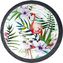 (4Pack) Crystal Glass Cabinet Knoppen Trekt Handvatten Knoppen voor Dressoir Laden Deur met Schroeven Tropisch Wit Blad Fl...