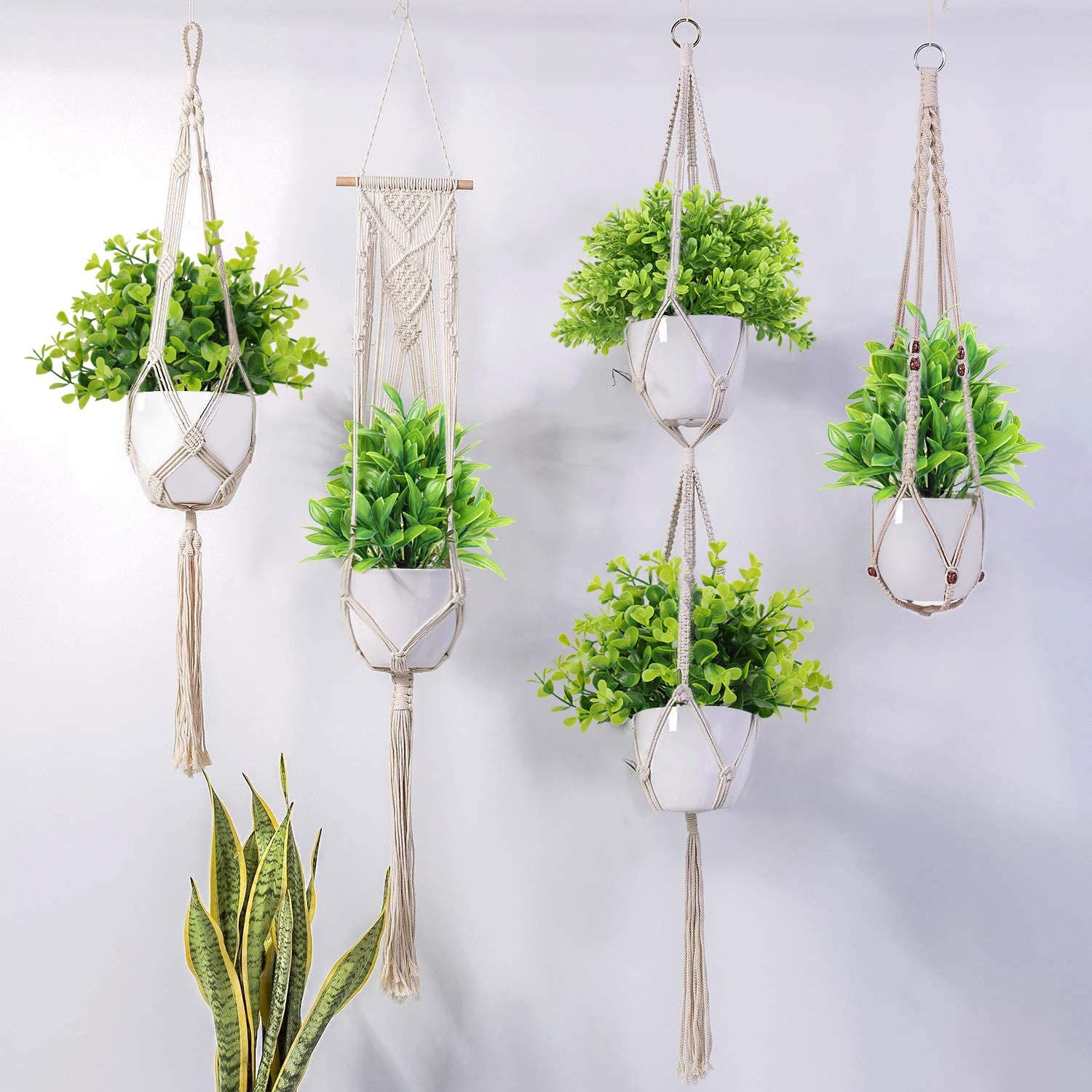 Table Decoration Indoor 3 Pack Small Eucalyptus Potted Faux Decorative Grass Plant with White Plastic Pot for Home Decor Artificial Potted Plants Mini Fake Plants Desk Office