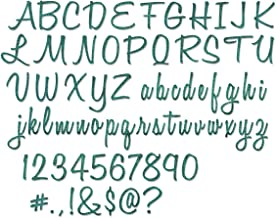 Sizzix 662228 Thinlits Dies, Numbers, Upper and Lower Case Alphabet by Tim Holtz, Blue