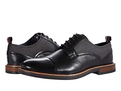 Ben Sherman Birk Cap Toe (Black Leather) Men