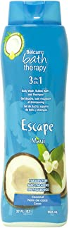Belcam Bath Therapy Body Wash and Shampoo, Maui Coconot, 32 Fluid Ounce