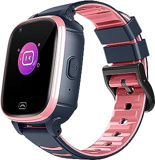 URJEKQ Smartwatch Niños Reloj Inteligente Niño IP67 LBS Llamada Bidireccional SOS Modo de Clase Cámara Regalo para Niño Ni...